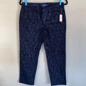 NWT - Talbots Petites Signature Flower Black Jeans